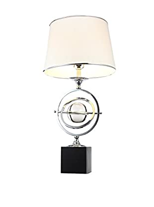 A & B Home Orbit Table Lamp, White