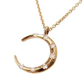 【クリックでお店のこの商品のページへ】[ミー]me. 三日月ネックレス K18(PinkGold): ジュエリー通販