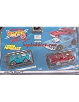 Hot Wheels 96627 1960 Corvette and 1957 T-Bird HO Slot Car Twin Pack