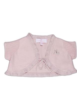 Naf Naf Chevignon Cárdigan Bordado (rosa claro)