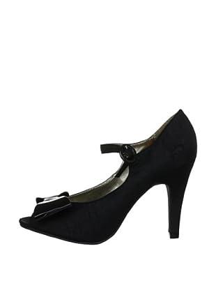 Rocket Dog Zapatos Peep Toe Orella (Negro)