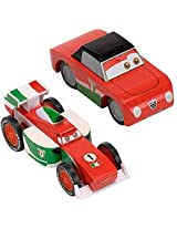 Disney Cars 2 Wood Collection Francesco Bernoulli and Giuseppe Motorosi