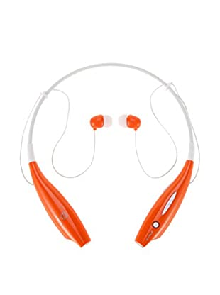 iPM Bluetooth Noise-Canceling Neckband Headset with Built-In Microphone, Orange