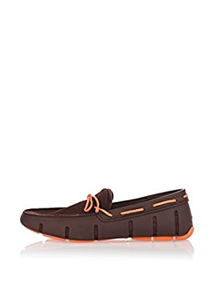 Swims Náuticos Braided Lace Loafer (Marrón)