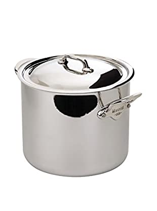 Mauviel M'cook 9.1-Qt. Ferretic Steel Stock Pot with Lid & Cast Stainless Steel Handle