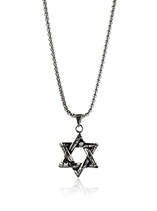 STEELTIME Stainless Steel Star of David Necklace