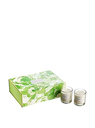 Isaac Mizrahi 6-Piece Hampton Lemon Grass Scented Votive Set, Green