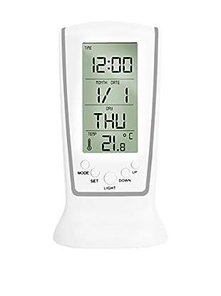 F&P Reloj Despertador Digital Con 7 Melodías Reloj Despertador Digital Con 7 Melodías Blanco