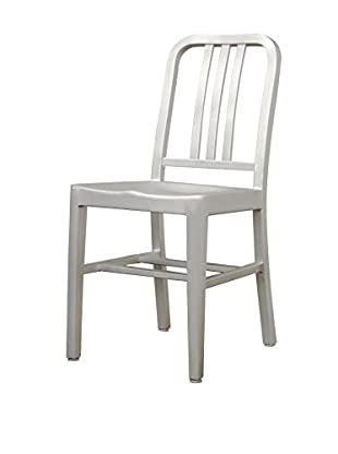 Baxton Studio Aluminum Café Chair, Silver
