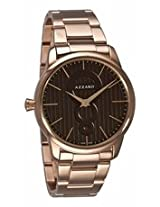 Azzaro Legend Brown Dial Rose Gold Tone Stainless Steel Mens Watch Az2060.52Hm.000