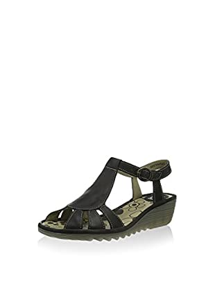 Fly London Damen Oily Offene Sandalen, Schwarz (Black 025), 35 EU