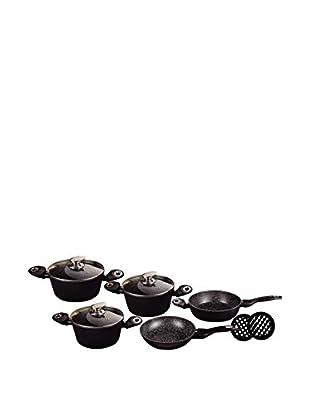 Blaumann Set Batería de cocina 10 Piezas Granit Line Negro