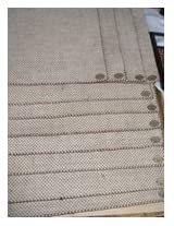 Cute Jute 6 Place Mats & Runner
