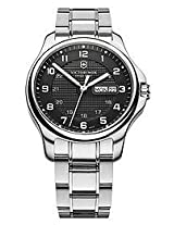 Victorinox Officer's Analogue Black Dial Men's Watch - 241590.1