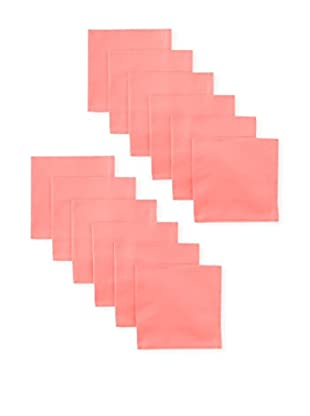Garnier-Thiebaut Set of 12 Confetti Napkins, Coral