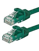 10FT FLEXboot Series 24AWG Cat6 550MHz UTP Ethernet Bare Copper Network Cable - Green