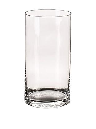 Outdoor Jarrón Cilíndrico Transparente Cristal Transparente