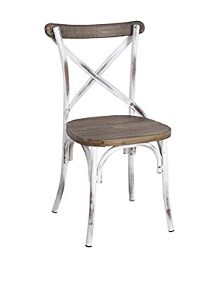 LO+DEMODA Silla Bistró Antique Blanco
