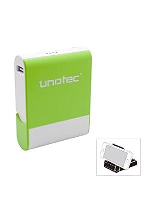 Unotec Bateria Externa De 8000 Mah 8Power Verde Con Stand
