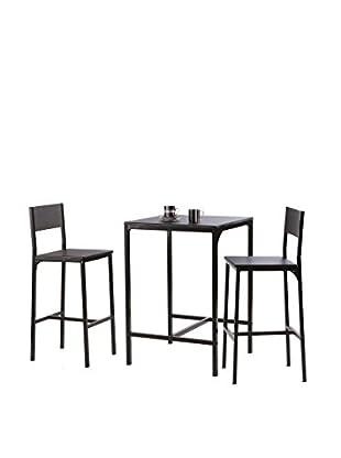 Easy Home Kit de Mesa con Sillas D21 Negro