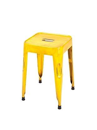 13 Casa Hocker 4er Set Industry 10 gelb 46 x 33 x 33 cm