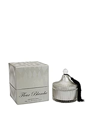 D.L. & Co. Ribbed Glass 7-Oz. Jar Candle with Tassel, Fleur Blanche