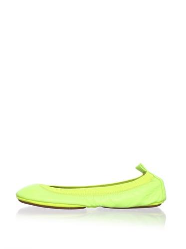 Yosi Samra Women's Neon Ballet Flat (Yellow)