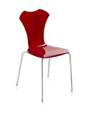 Iplex Design Stuhl 2er Set Neglige rot