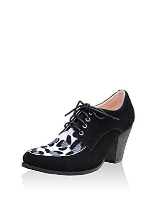 GAL·LATEA Zapatos abotinados Leopardo