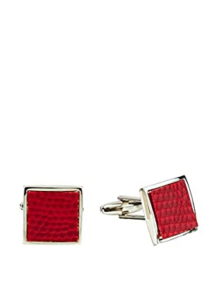 Ortiz & Reed Manschettenknopf Silver-Color Leather/Canvas Cufflinks