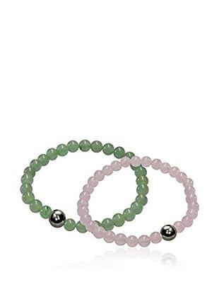 Mayumi Set de pulseras Easy Verde / Rosa