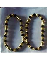 Crystal beads anklets.