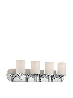 Lite Source Lina 4-Light Vanity Fixture, Chrome/Frosted