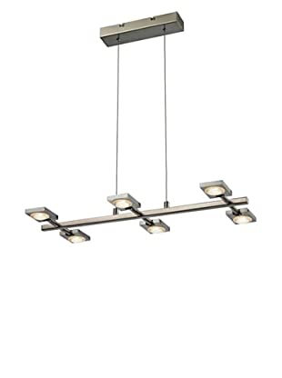 Artistic Lighting Reilly Collection 6-Light LED Chandelier, Brushed Nickel/Aluminum