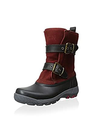 Cougar Women's Maple Creek Pull-On Insulated Snow Boot (Black/Burnt Henna)