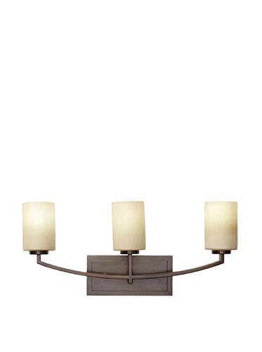 Feiss 3-Light Vanity Fixture, Heritage Bronze