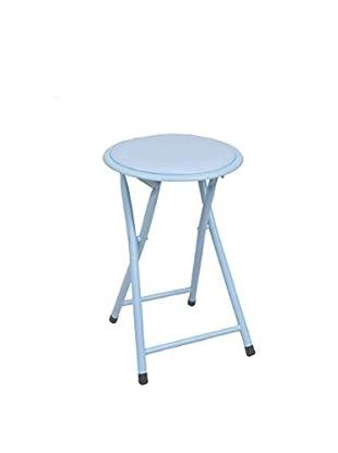 Set, 6 tlg. Hocker blau 45 x 30 x 30 cm