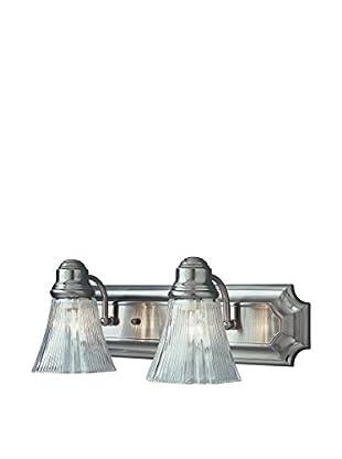Bel Air Lighting Argenta 2-Light Bath Bar, Brush Nickel