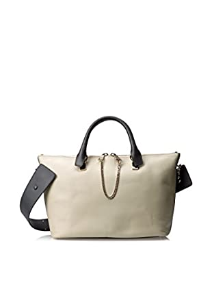 Chloé Women's Medium Baylee Bag, Marshmallow Grey/Black