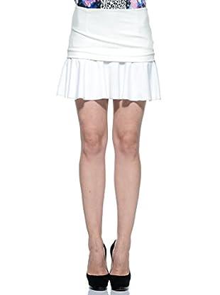 Annarita N Falda Volantes (Blanco)