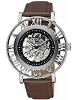 Akribos Automatic Skeleton Dial Stainless Steel Mens Watch Ak551Ss