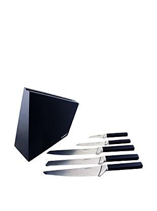 BergHOFF Cubo 6-Piece Forged Knife Block, Black