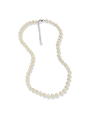 Valero Pearls 602016220 - Collar de mujer de plata de ley con perla de agua dulce, 47 cm