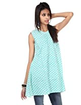 Rajrang Cotton Kurti - PTP00070 (Light Green)