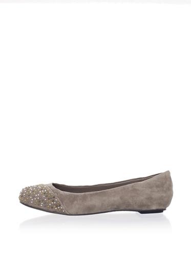 Dolce Vita Women's Nirvana Cap Toe Ballet Flat (Grey)