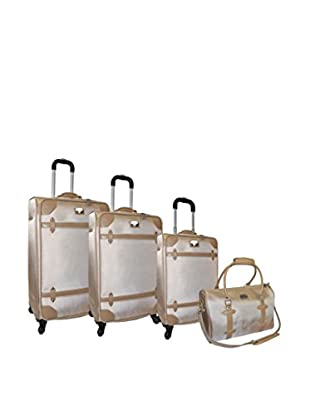 Adrienne Vittadini High Density 1680 Denier 4-Pc Luggage Set, Sand
