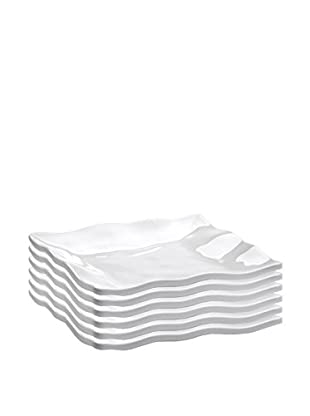 Q Squared NYC Set of 6 Ruffle Appetizer Plates