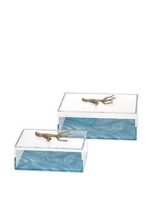 Set of 2 Serene Acrylic Boxes