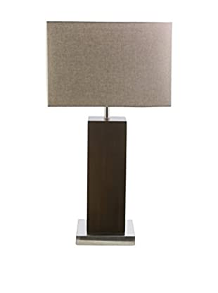 Surya York Table Lamp, Brushed Nickle