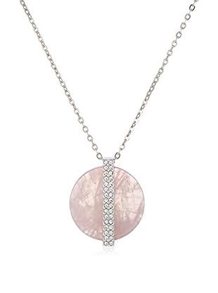 Swarovski Set Halskette und Anhänger  silberfarben/rosé